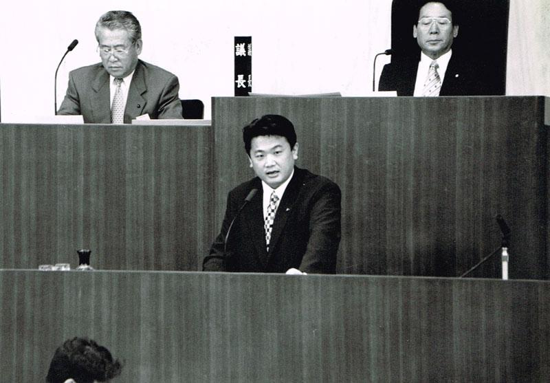 長友よしひろ 相模原市議会本会での初登壇